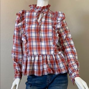 NWT LUCCA COUTURE Indiana Peplum Blouse